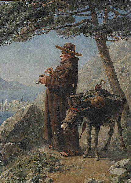 AUGUST KRAUS Erding 1852 - 1917 München Mönch mit