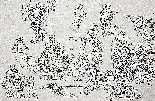 GIUSEPPE CANALE Rom 1725 - 1803 Dresden Feldherr