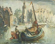 Fischerboote im Hafen.