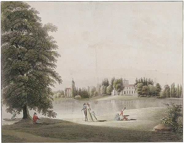 CHRISTIAN AUGUST GÜNTHER Das Fürstliche Haus zu Wörlitz von der Wasserseite aus.