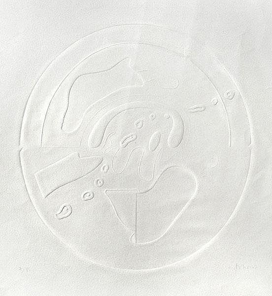 HANS MARTIN ERHARDT Komposition mit Oval.