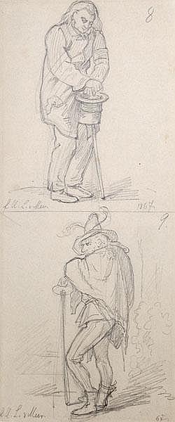 JOHANN BERNHARD SCHMELZER Zwei Figurenstudien -