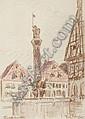 FRITZ BLEYL Brunnen in Forchheim., Fritz Bleyl, Click for value