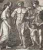 JOHANN HEINRICH LIPS Herkules zwischen Tugend und Wollust mit dem Cupidoknaben., Johann Heinrich Lips, Click for value