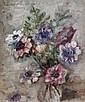 OSKAR H. HAGEMANN Lila und Rosa blühende Blumen in einer Glasvase., Oskar Hagemann, Click for value