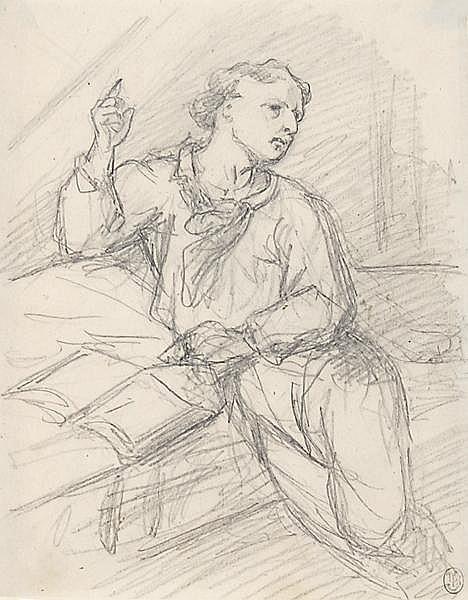 CELESTIN NANTEUIL, eigentl. CELESTIN LEBOEUF Rom 1813 - 1873 Marlotte/Seine-et-Marne