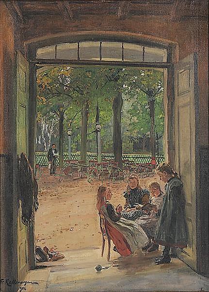 FRIEDRICH KALLMORGEN Altona 1856 - 1924 Grötzingen bei Karlsruhe