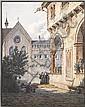 SIMON QUAGLIO 1795 - München - 1878 Innenhof eines, Simon Quaglio, Click for value