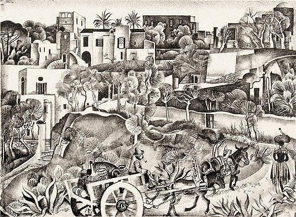 KARL HOLTZ (1899 - 1978) Spanische Dorfstraße mit