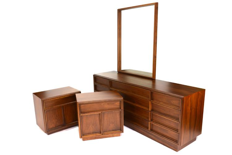 Bedroom Set by John Keal for Brown Saltman