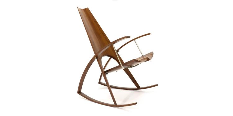 Studio Craft Rocking Chair by Leon Meyer - 1977