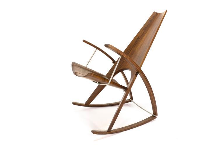 Studio Craft Rocking Chair by Leon Meyer - 1983