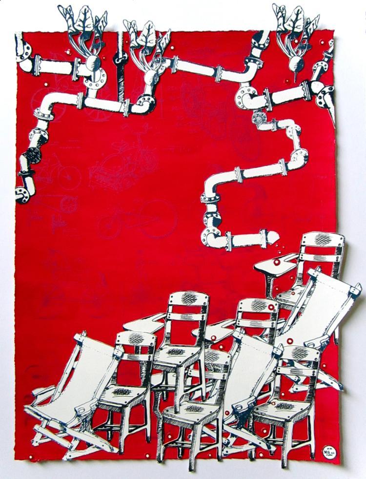 LA Hoffman: Red Construct