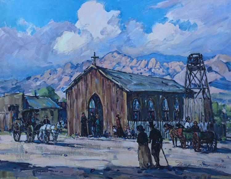 Original Sacred Heart Catholic Church 1880's / Tombstone Arizona