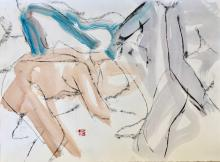 FREEMAN W. BUTTS (1928-1998); Figurative Abstractions and Compositions on Paper