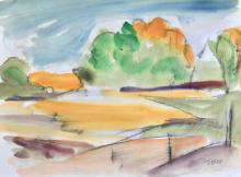 FREEMAN W. BUTTS (1928-1998); Landscape Paintings on Paper