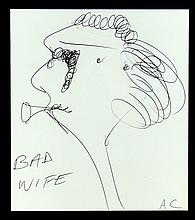 ADAM CULLEN (1965 - 2012), Medium: LARGE ORIGINAL INK - BRAND NEW FRAME , Title: `Bad Wife`, Imag