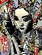 HUSH (UK), Limited Edition 9 Colour Screenprint Hand Finished with Acrylic Paint, Spray Paint, Tea on Somerset Velvet, 2011, Title:  Unmasked Geisha, Signed Lower Right, Editioned Lower Right: 74/133,  Hush, Click for value