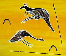 REG PENGARTE,  'Bush Tucker Series - Emu Kangaroo'