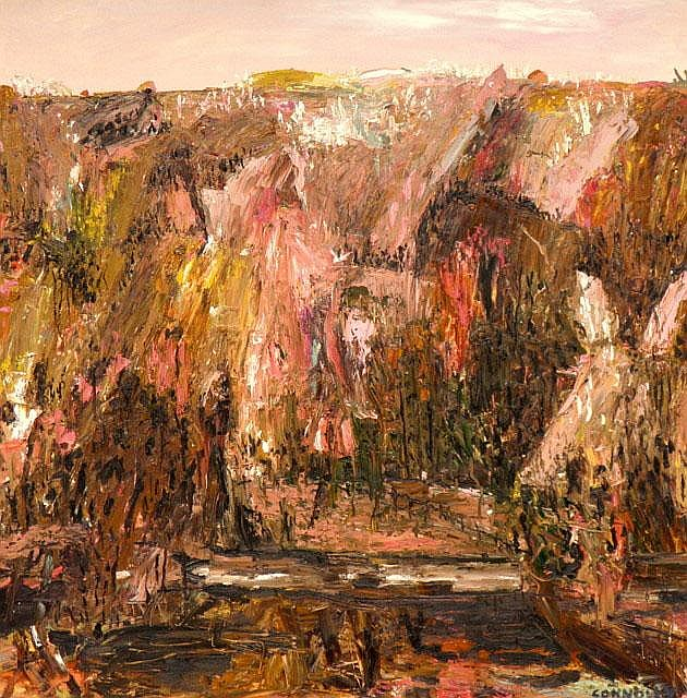 CAMILLA CONNOLLY (1962 - ), Original Oil Painting on Canvas, 2007, Title:  Road Through Tomewin, Signed Lower Right
