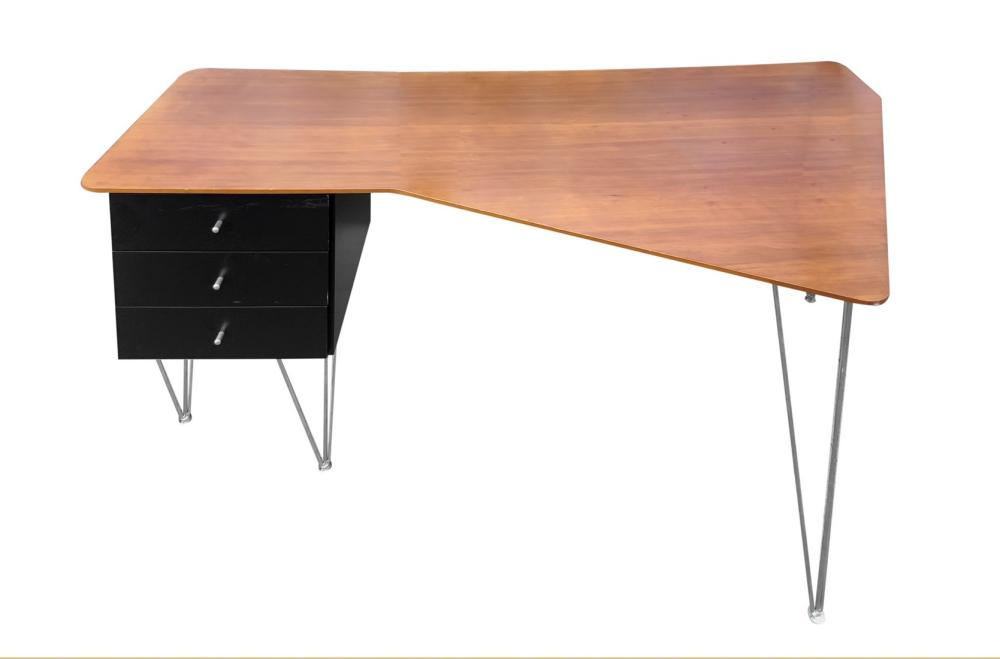 Desk made in Italy, plywood top covered in cherry., Italy