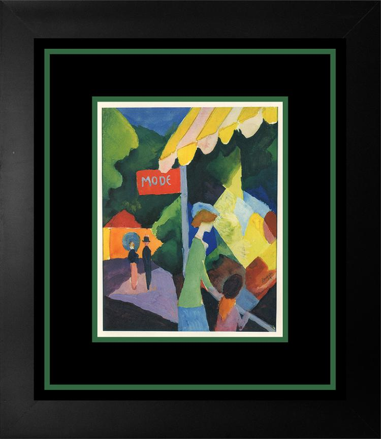 Macke Lithograph in Colors
