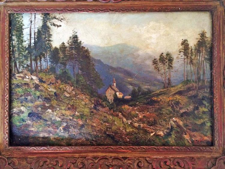 SOUZA PINTO JOSE JULIO  Original oil on board from 1920