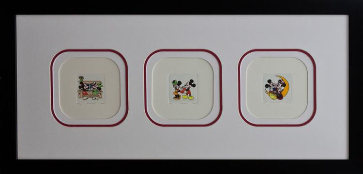Mickey Mouse Limited Edition Hand colored etching Disney
