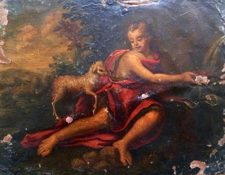 In the manner of Peter Paul Rubens  Oil on Copper plate, possible study of