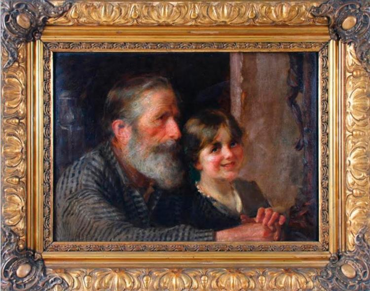 Jose Malhoa (1855-1933) Original oil painting on board from 1911