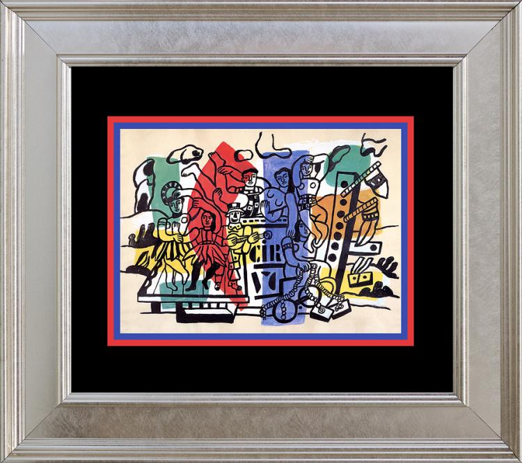 Fernand Leger Color Plate Lithograph over 45 years old