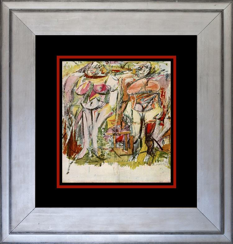Willem De Kooning 1960 Color Plate Lithograph