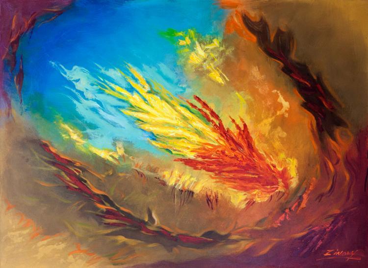 Zinovy Lava Original Oil on canvas Abstract