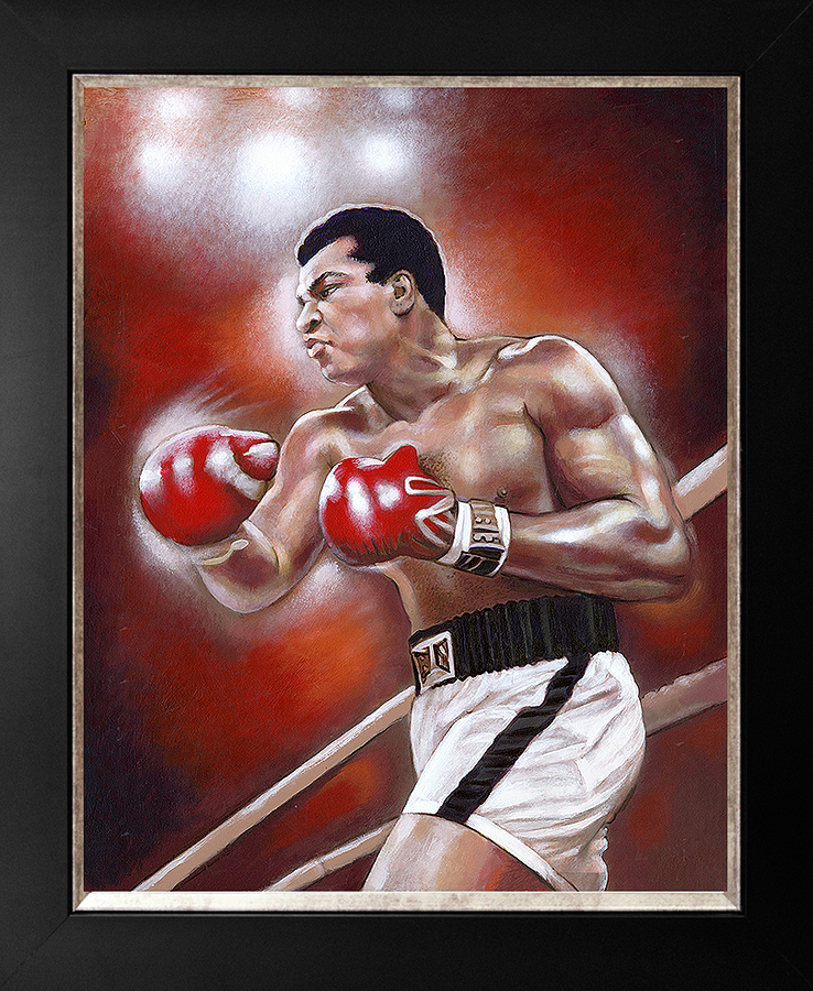 Original on canvas Muhammed Ali