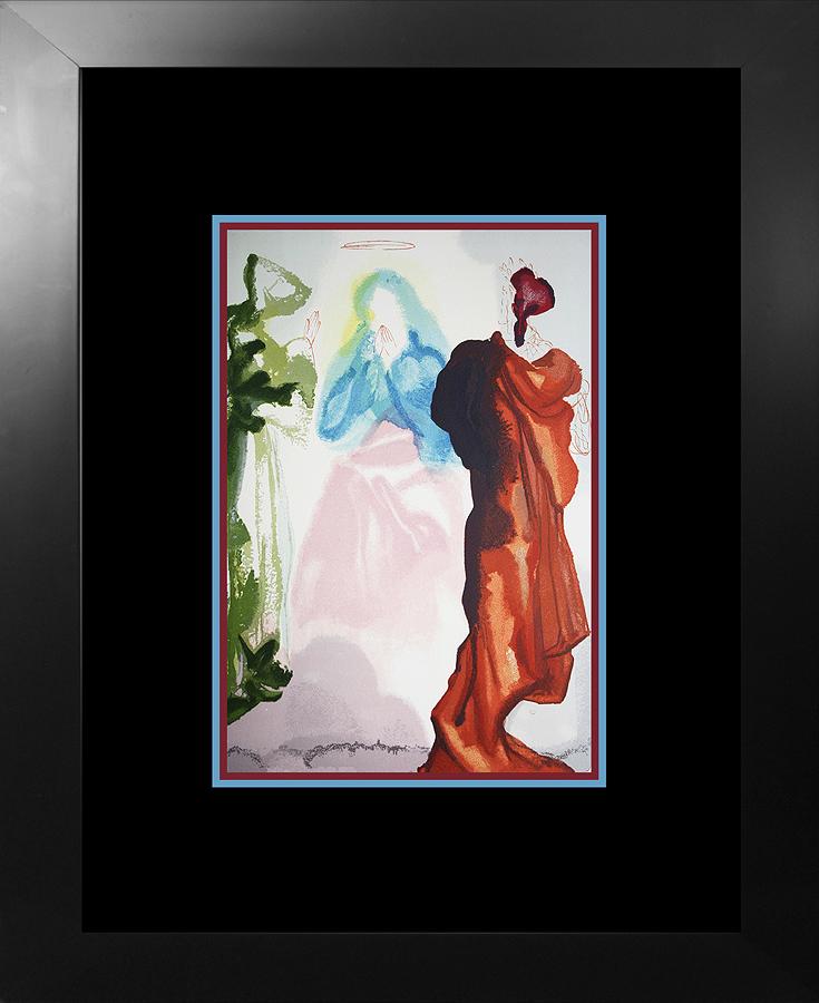 Salvador Dali Original Wood Block Divine Comedy from 1960