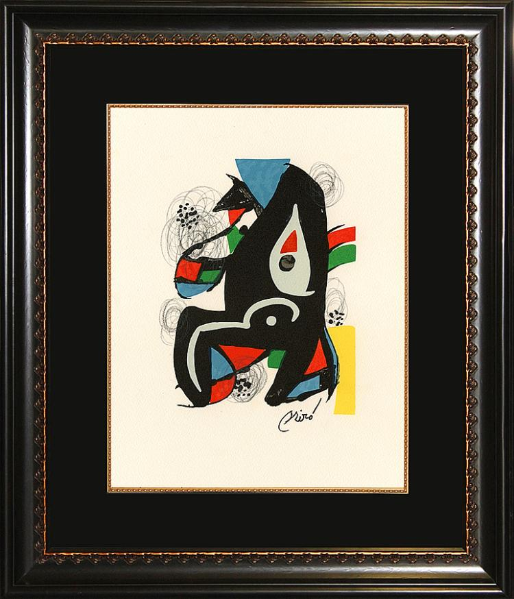 Joan Miro Lithograph La Melodie Acide.