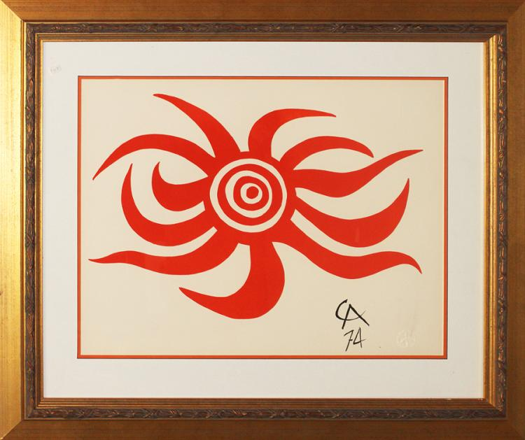 Alexander Calder Sunburst Original Lithograph