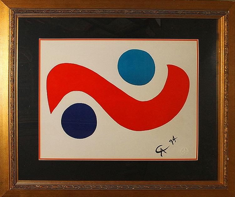 Alexander Calder Limited Edition Original Lithograph