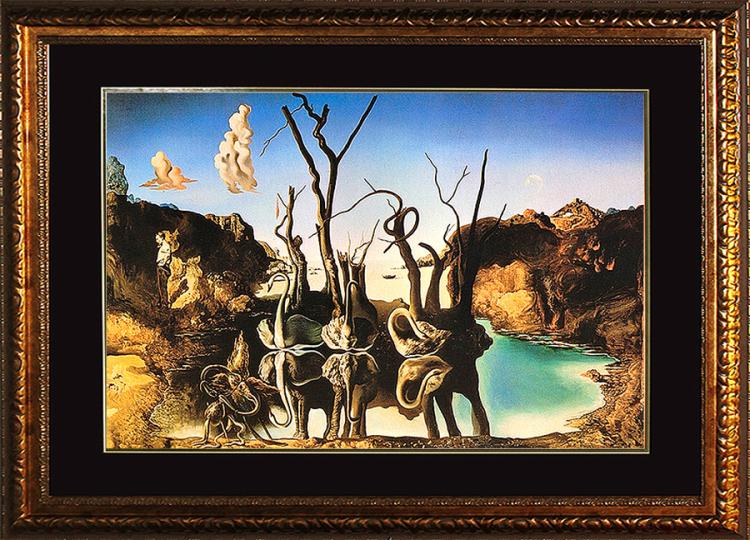 Salvador Dali-Swans Reflecting Elephants