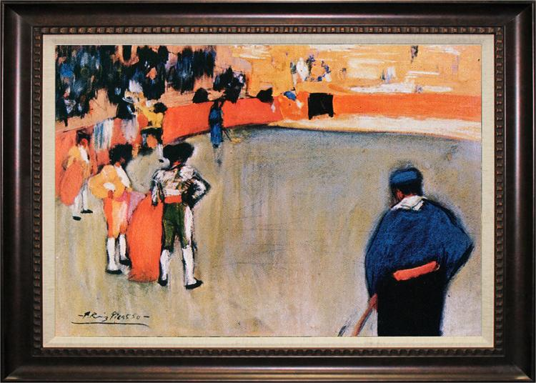 Limited Edition Bullfight II after Pablo Picasso Hand Embellished