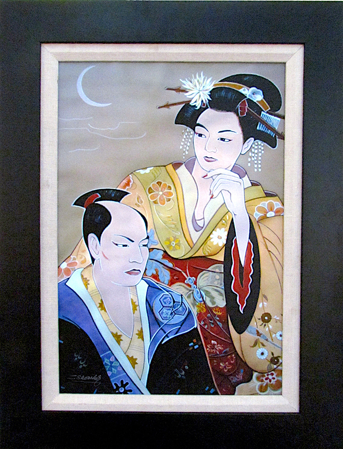 Zinovy Shersher Japanese Couple Series Canvas Limited Edition