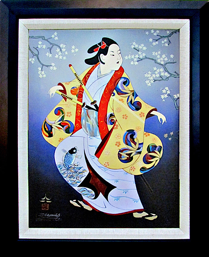 Zinovy Shersher Japanese Series Canvas Limited Edition Warrior