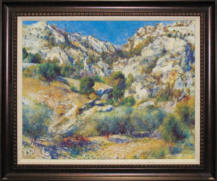 After Pierre Renoir -Limited Edition Embellished Canvas-Rocky Crags