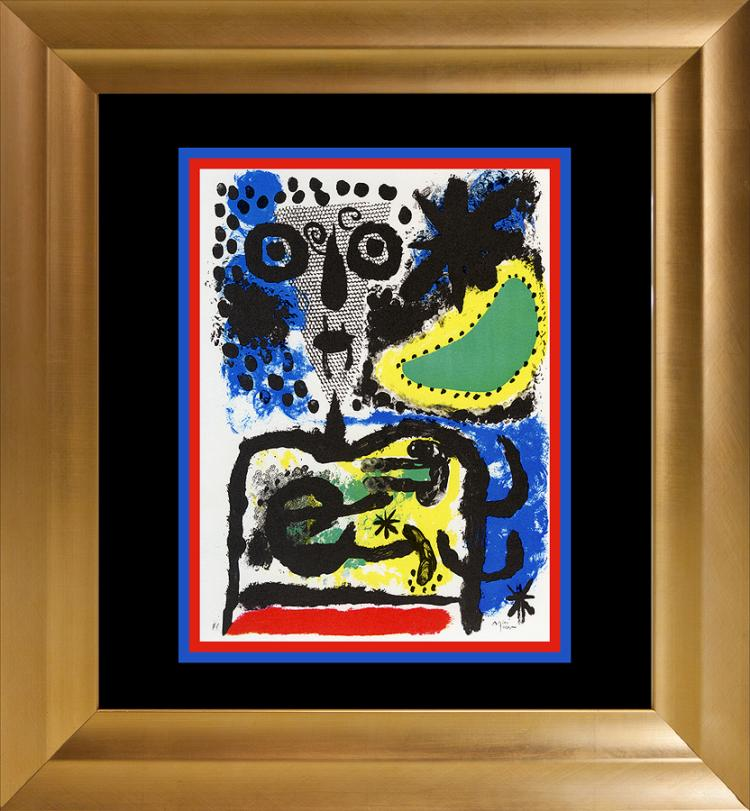 Joan Miro Color Plate Lithograph 1962 Maeght Paris