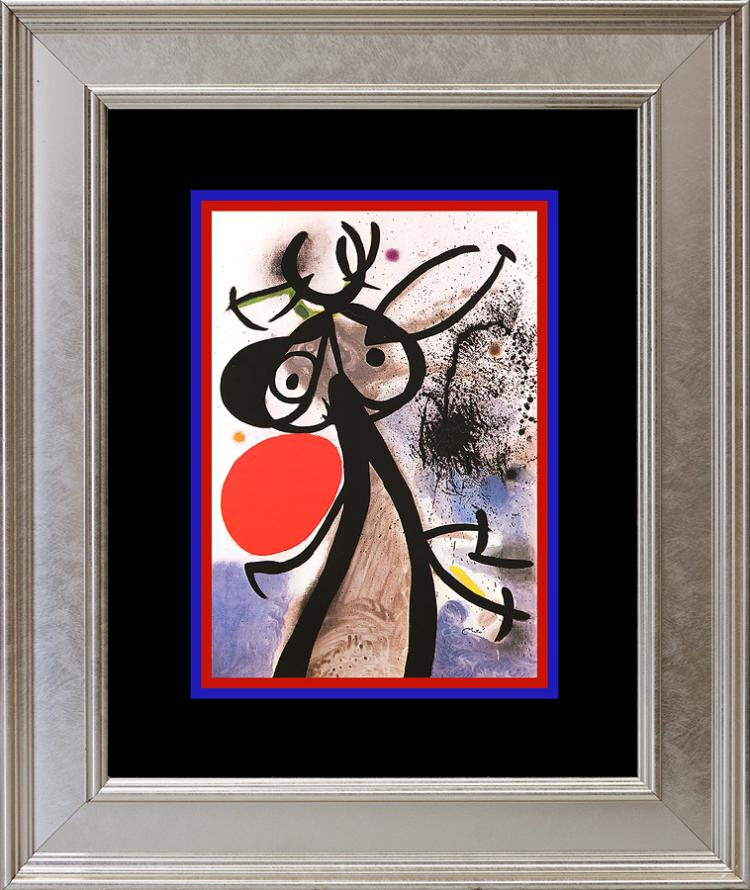 Joan Miro Color Plate Lithograph 1962