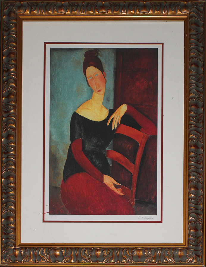 Modigliani Portrait of Jeanne Hebuterne Limited Edition Lithograph