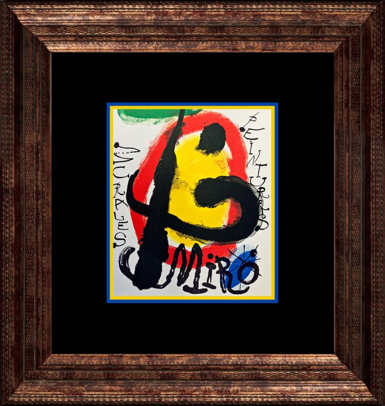 Joan Miro Lithograph 1972 Paris.