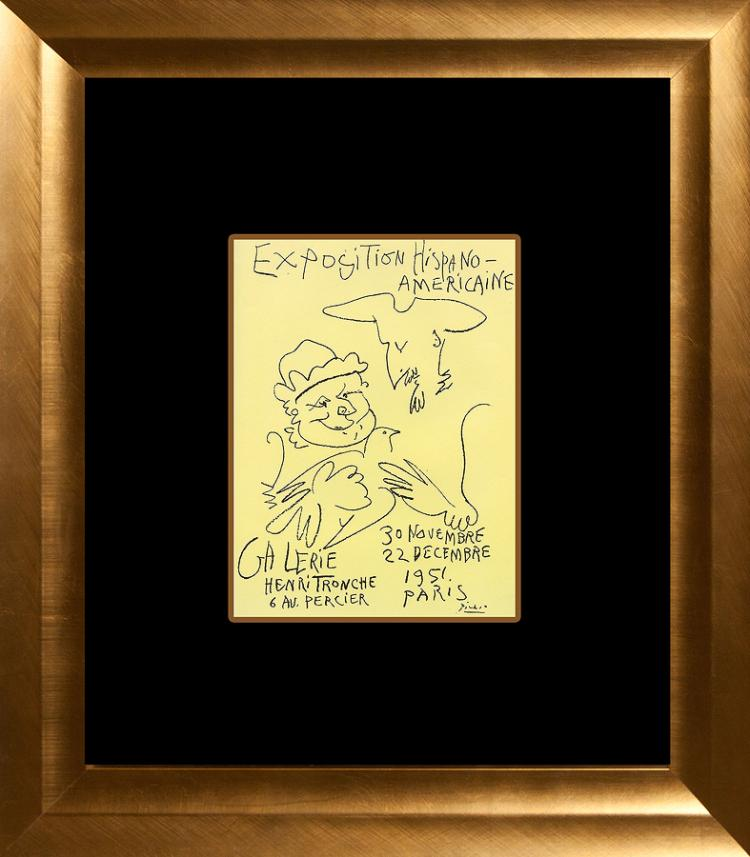 Pablo Picasso lithograph from 1964