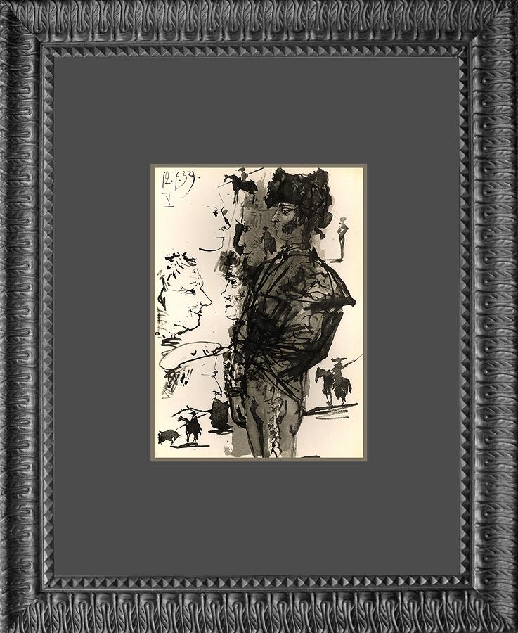 Pablo Picasso Toros lithograph by Mourlot Press 1961