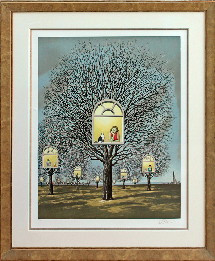 Rafal Olbinski Original Lithograph Limited Edition